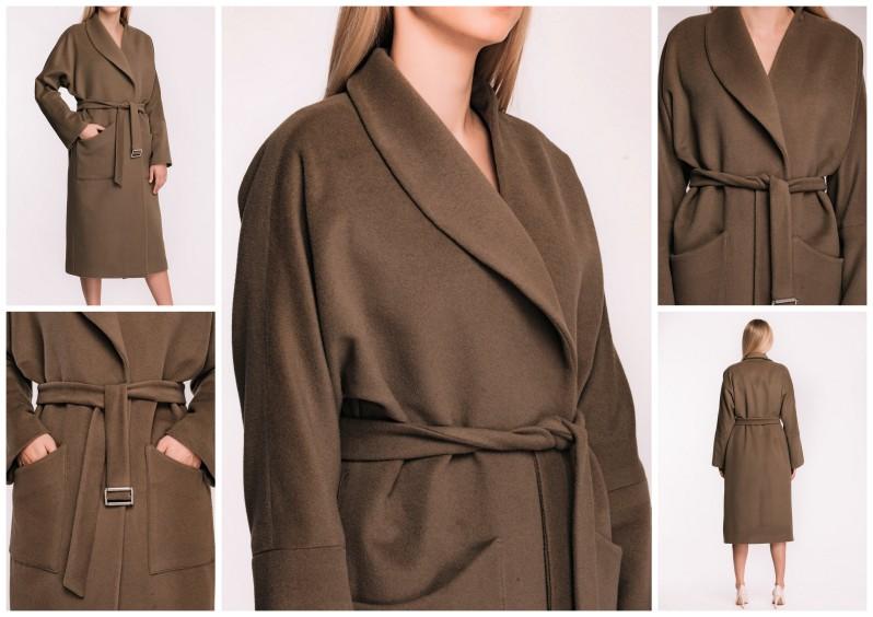 dlouhý pískový vlněný kabát tam ara (1)