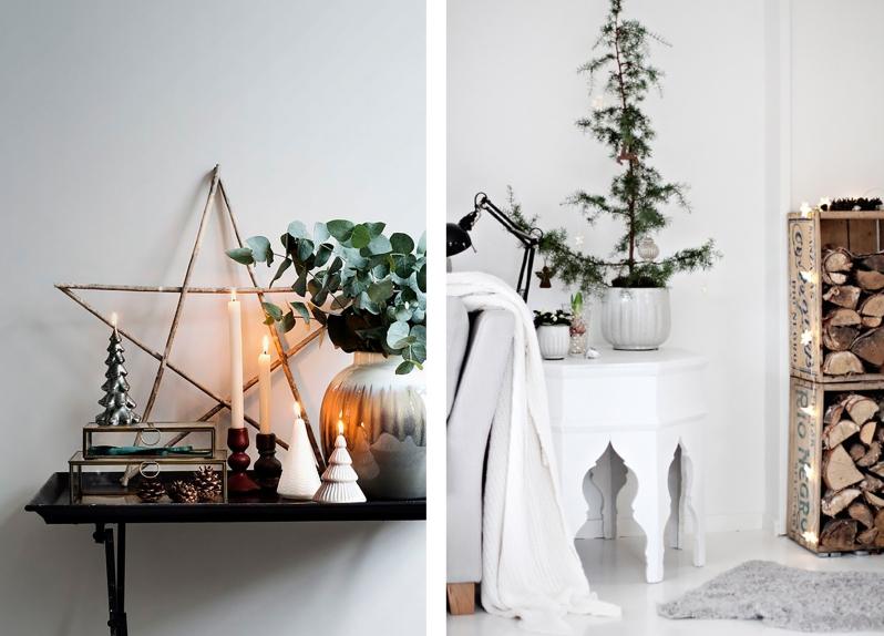 skandinávský styl vánoc