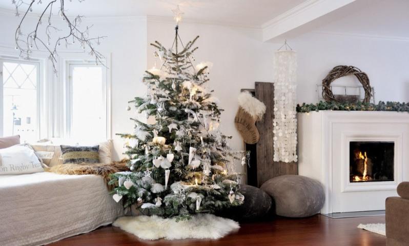 skandinávský styl vánoce