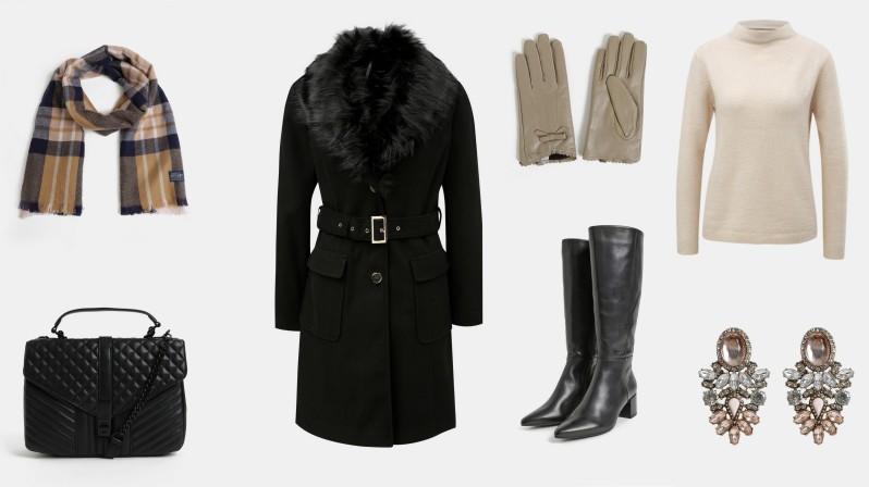 teplý a stylový zimní outfit