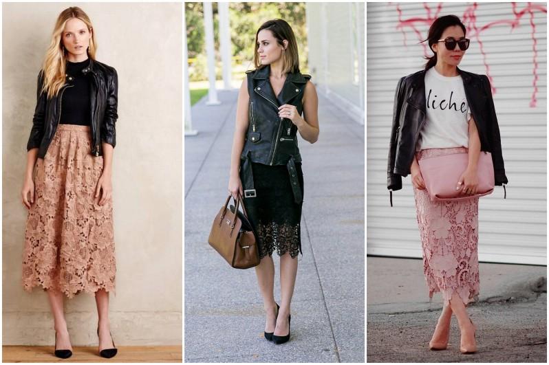 jak se nosí krajkovaná sukně módní trendy (2)