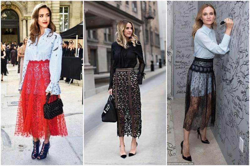 jak se nosí krajkovaná sukně módní trendy (4)