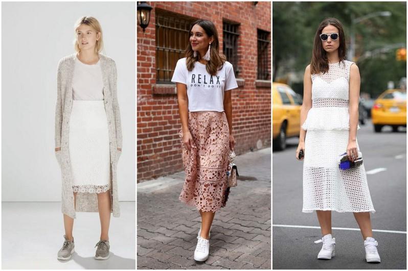 jak se nosí krajkovaná sukně módní trendy (5)