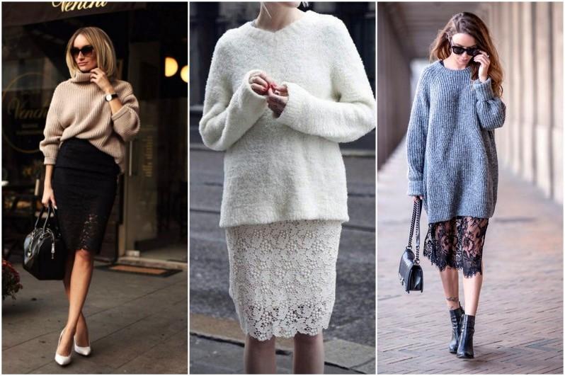 jak se nosí krajkovaná sukně módní trendy (6)