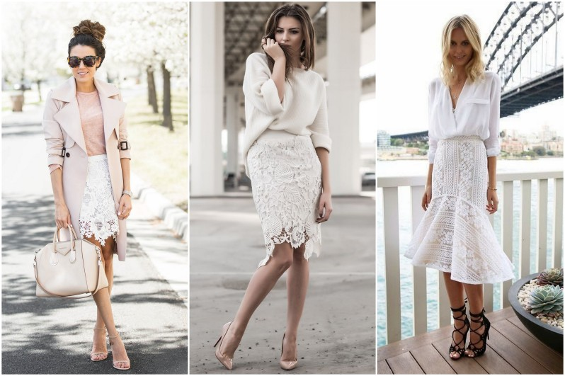 jak se nosí krajkovaná sukně módní trendy (7)