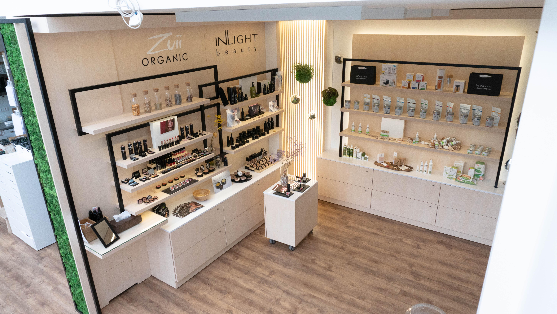 Pohled na showroom Biorganica